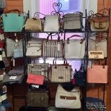 Display with handbags