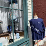 Sharon Springs t-shirt in front of the store