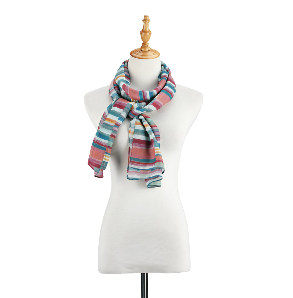 Manequin display with scarf