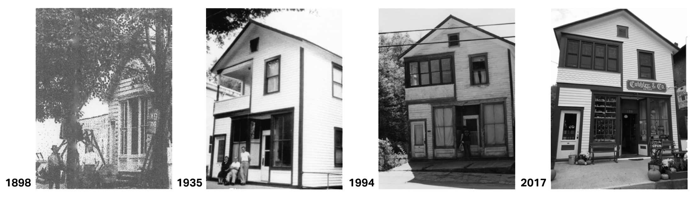 The Cobbler & Co building over the years